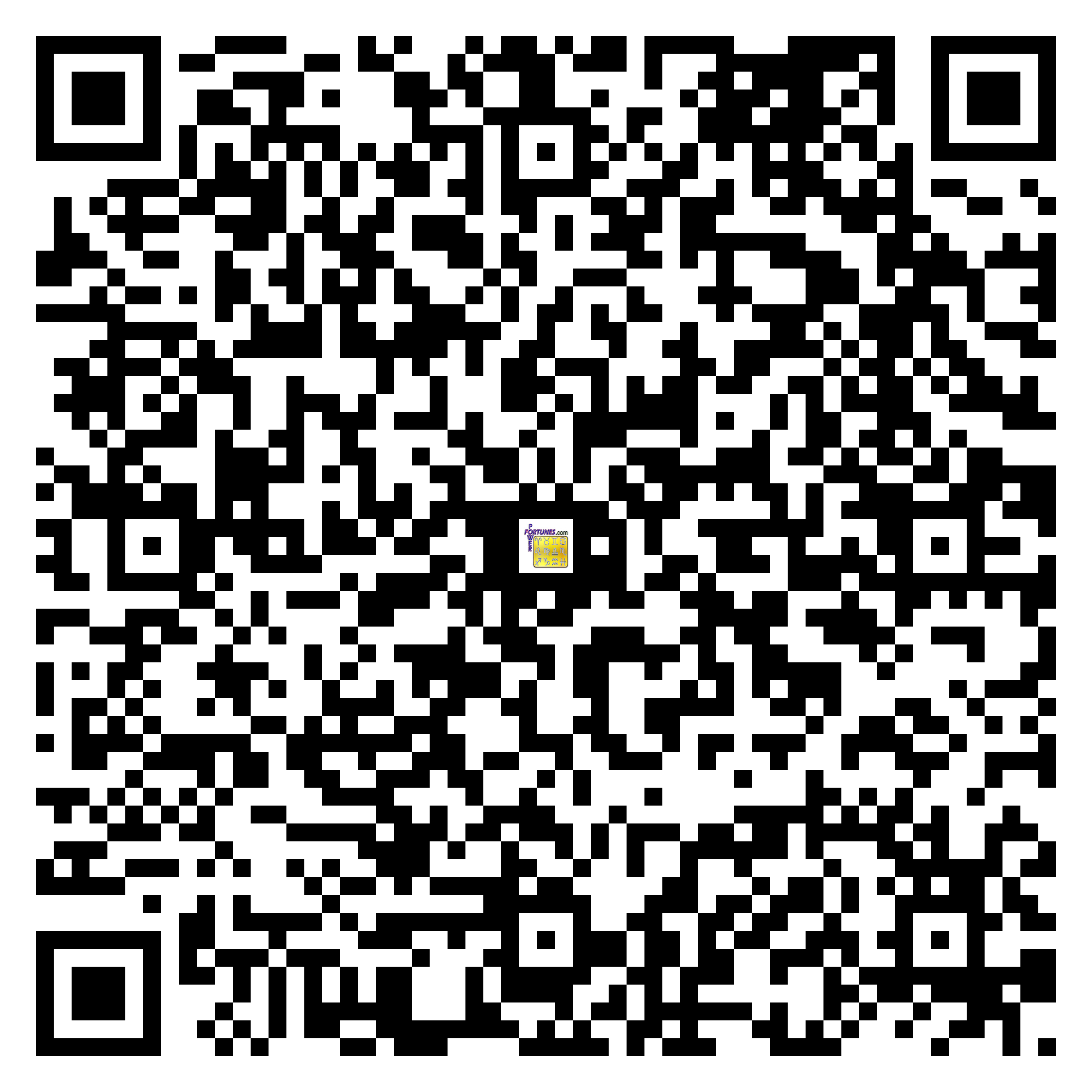 Download QR Code for PowerFortunes.com SKU# Pwr.lk58X84-s