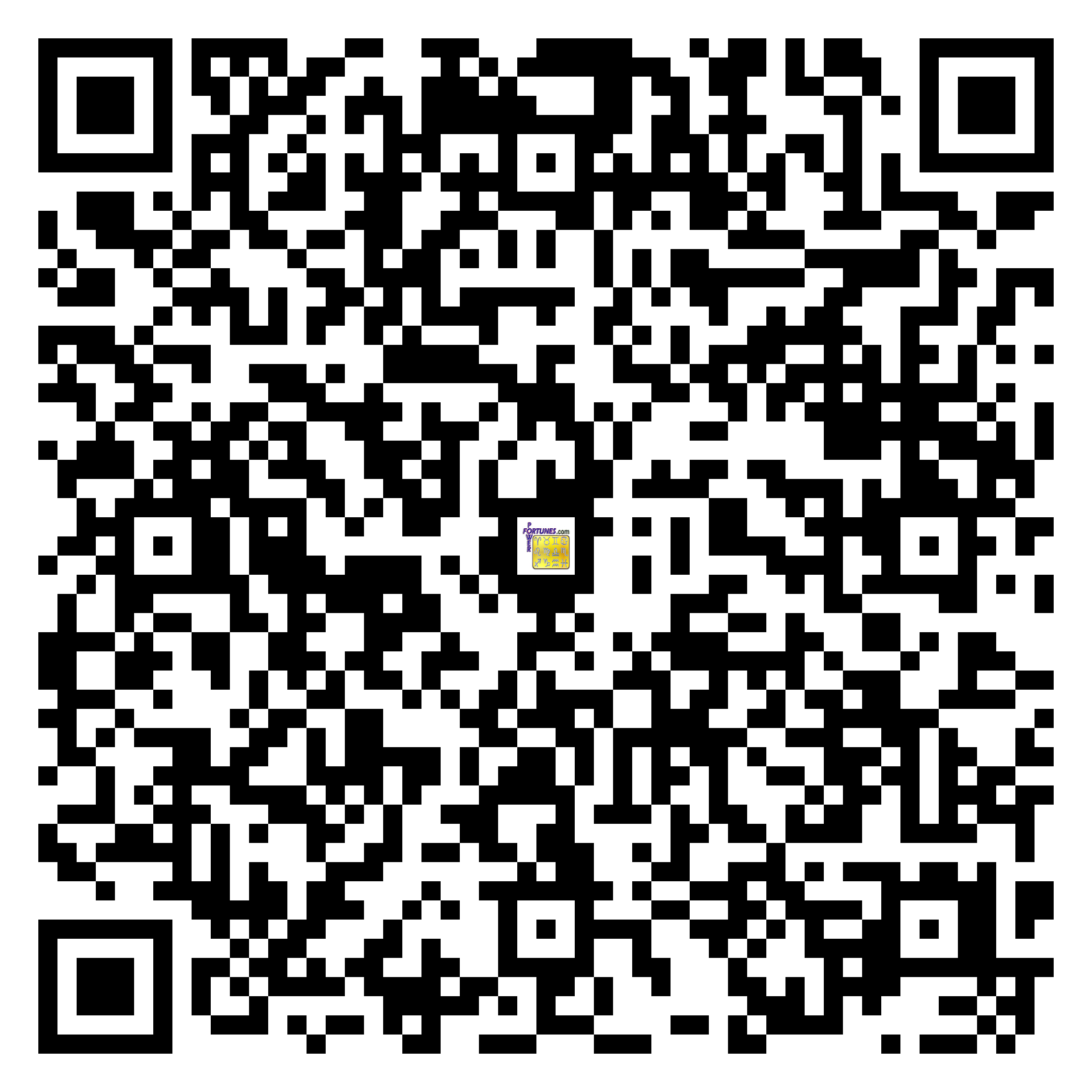 Download QR Code for PowerFortunes.com SKU# Pwr.lk61X89-s
