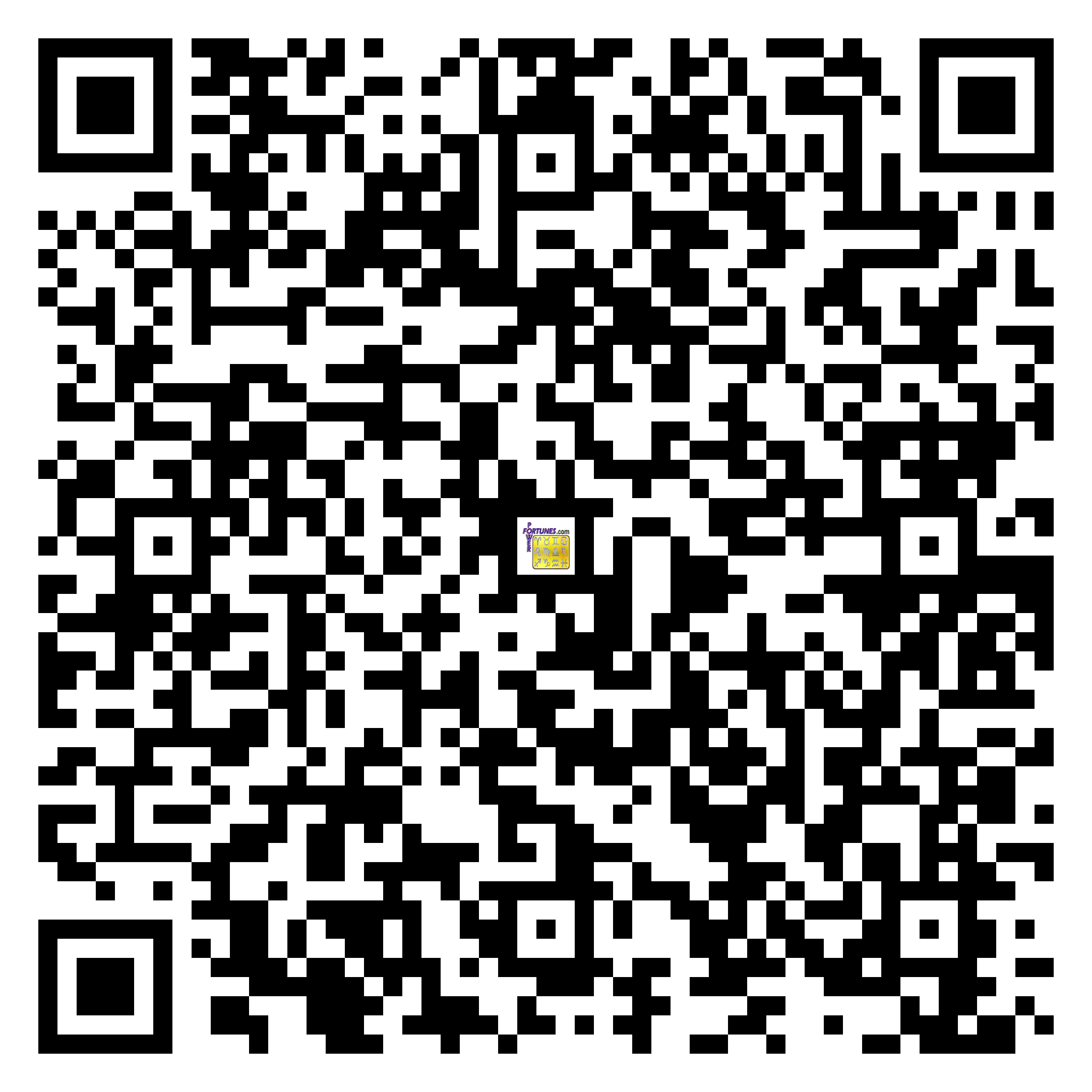 Download QR Code for PowerFortunes.com SKU# Pwr.lk62X90-s