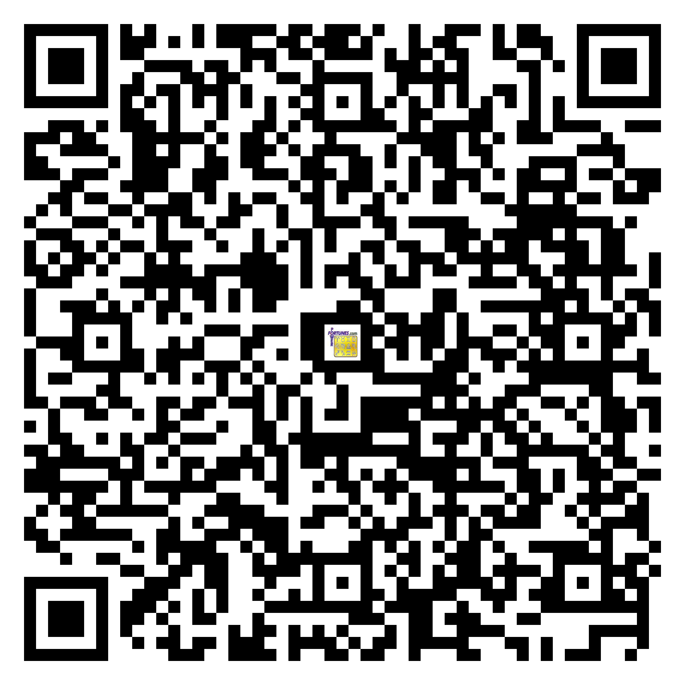 Download QR Code for PowerFortunes.com SKU# Pwr.lk64X105-s