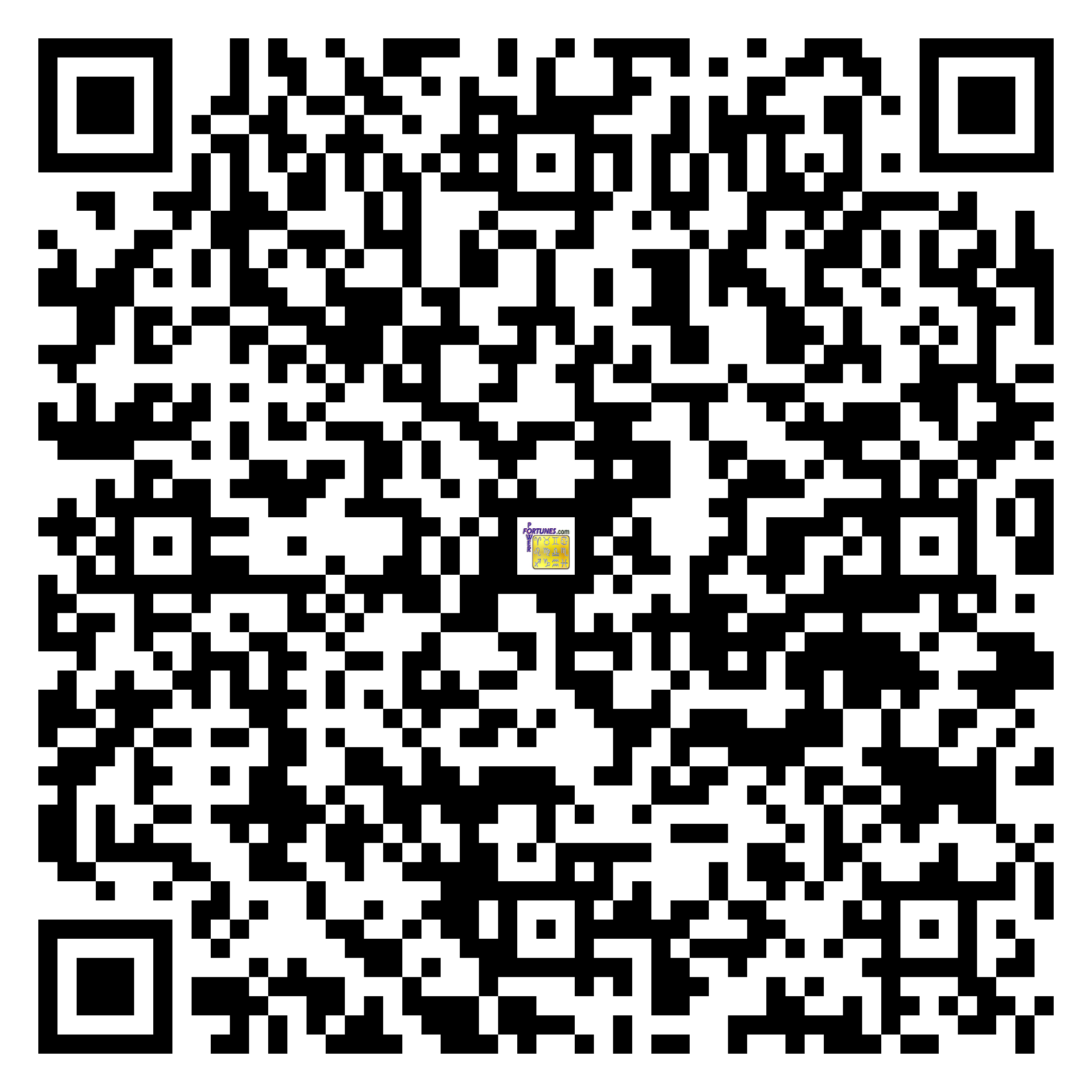 Download QR Code for PowerFortunes.com SKU# Pwr.lk77X133-m