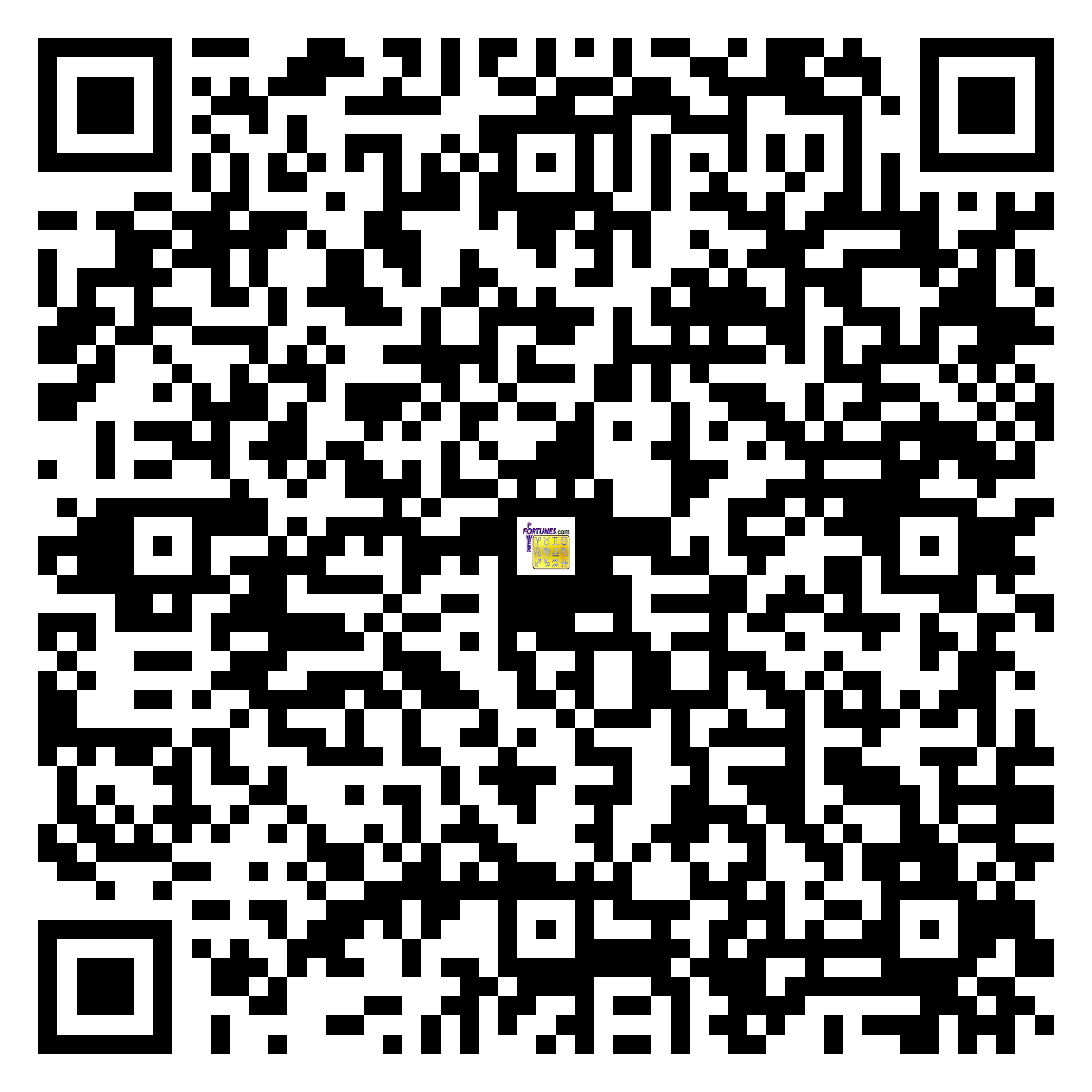 Download QR Code for PowerFortunes.com SKU# Pwr.lk78X135-m