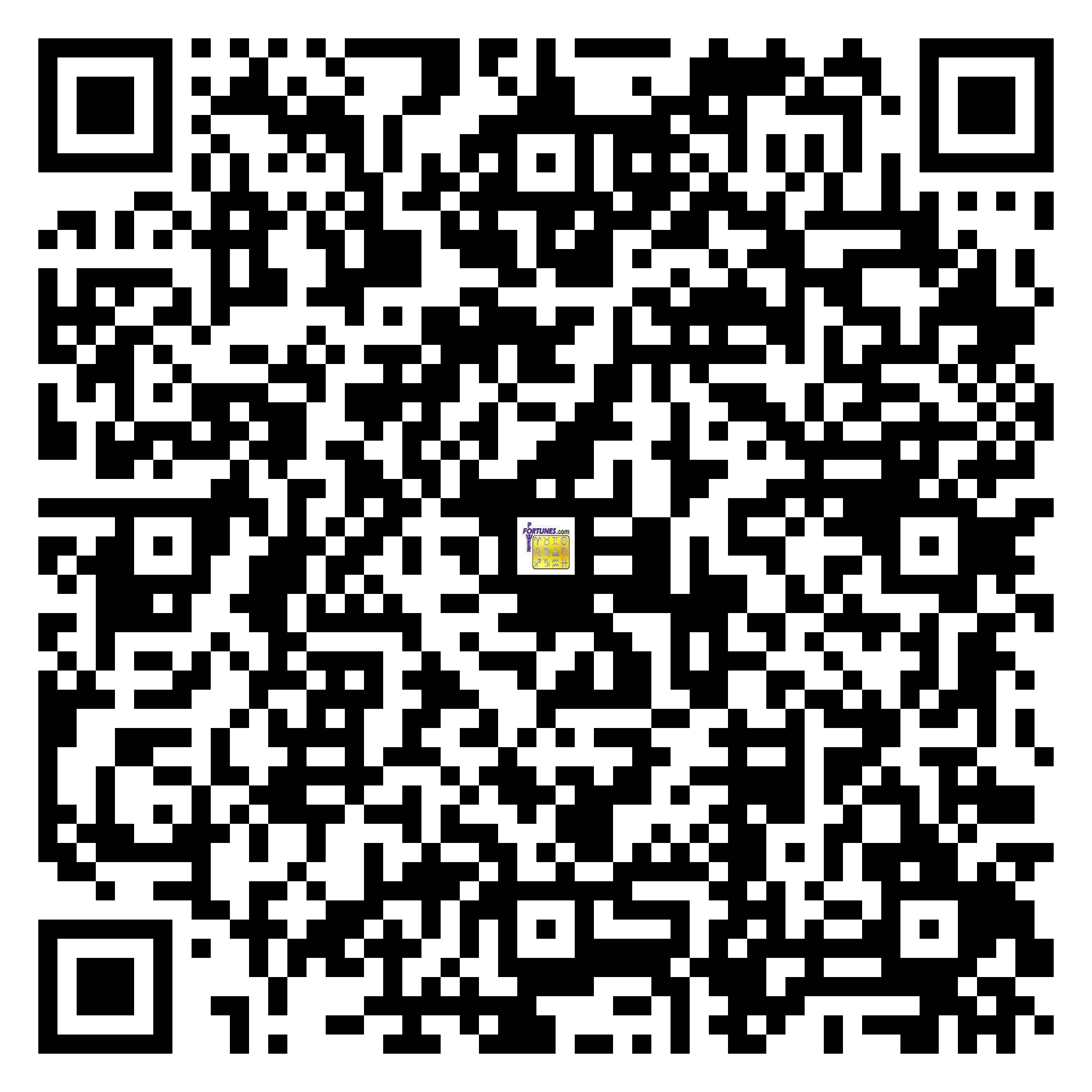 Download QR Code for PowerFortunes.com SKU# Pwr.lk80X137-m