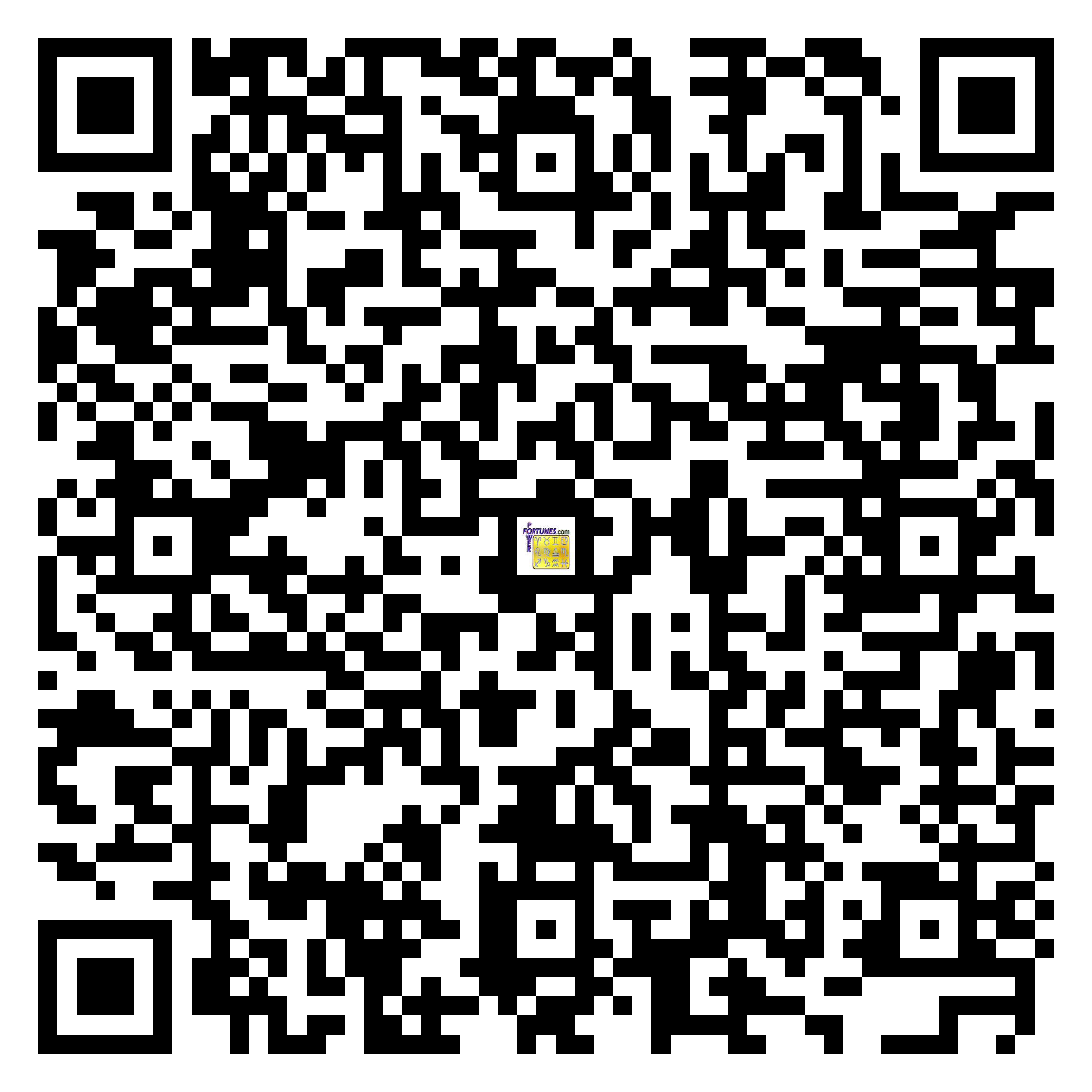 Download QR Code for PowerFortunes.com SKU# Pwr.lk81X138-m
