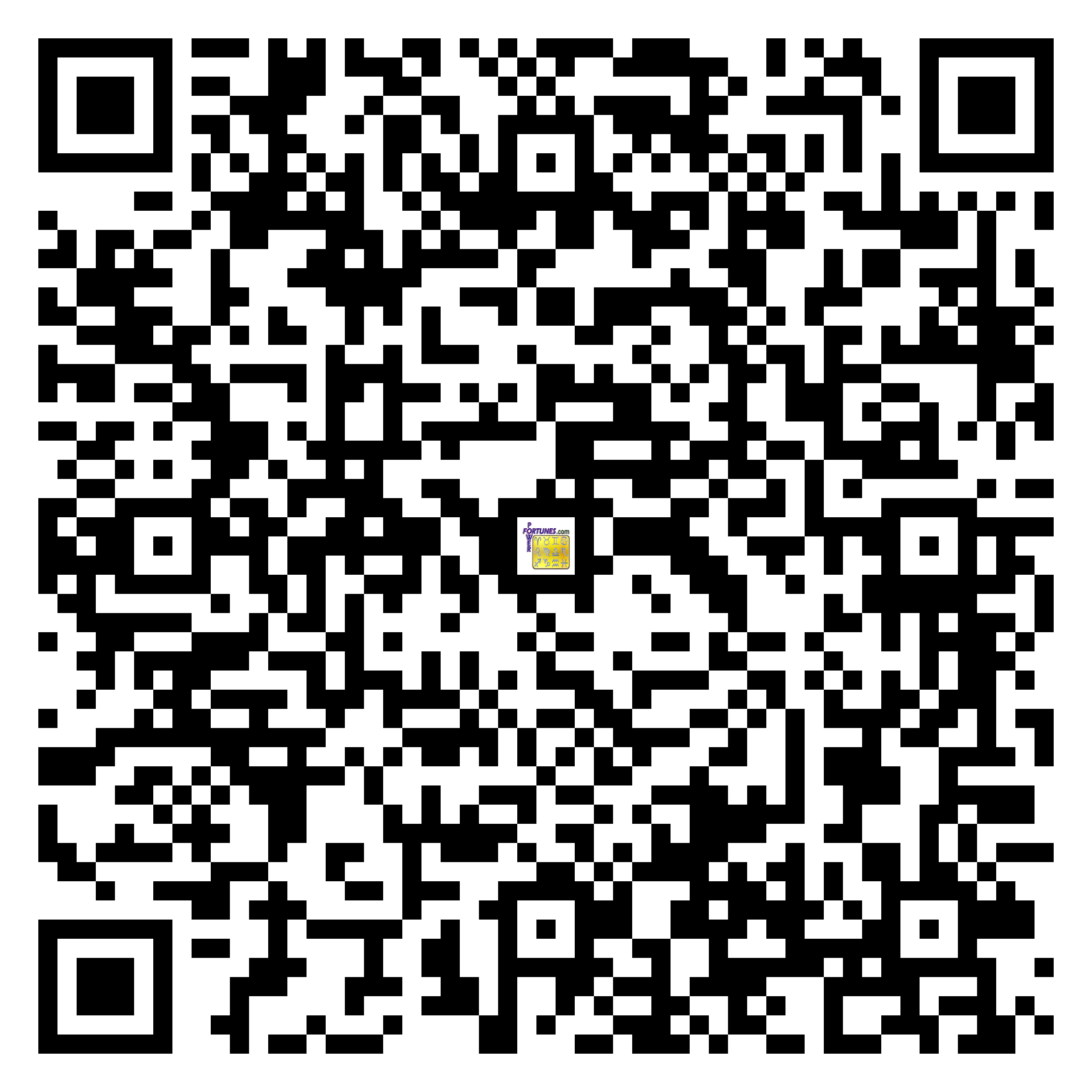 Download QR Code for PowerFortunes.com SKU# Pwr.lk83X140-m