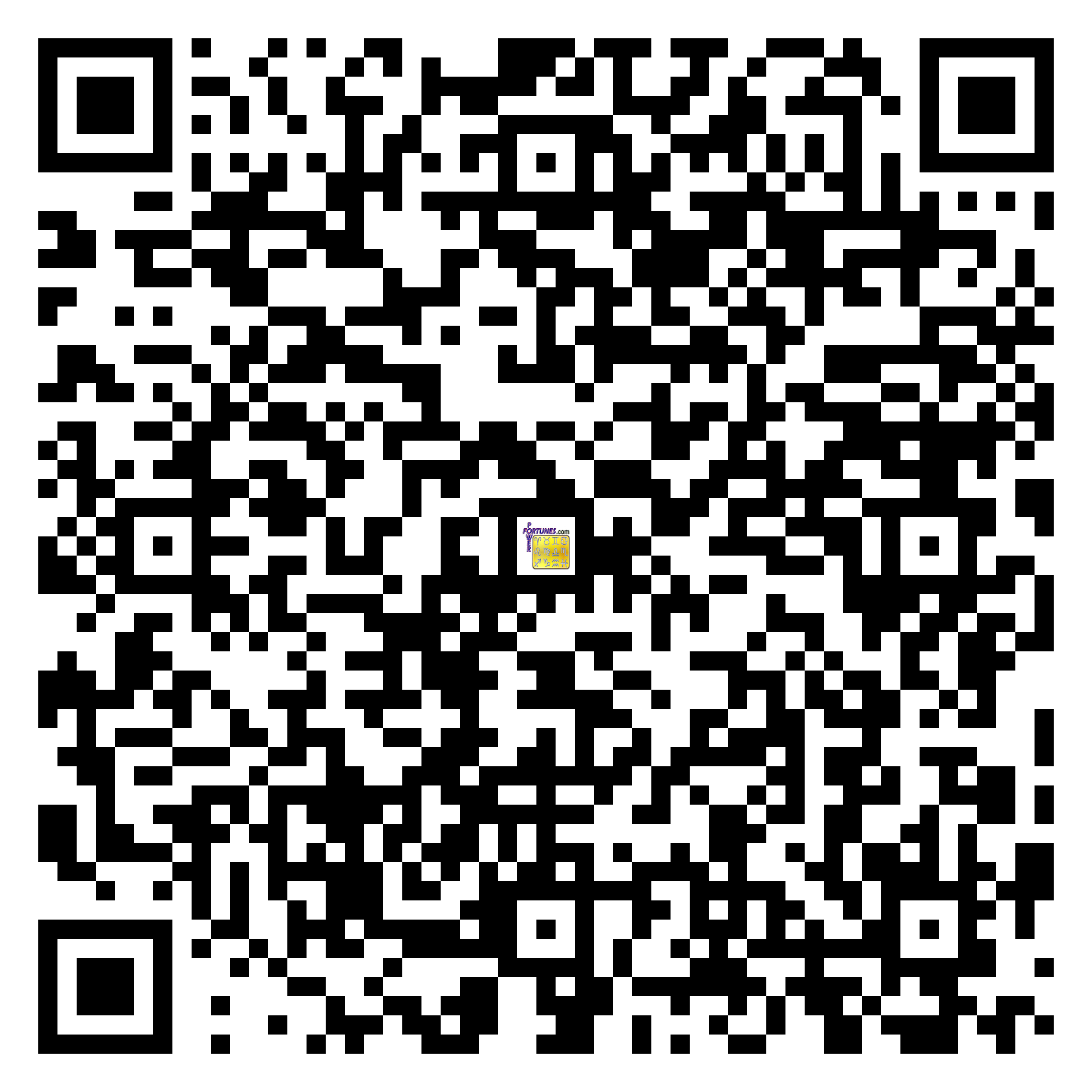 Download QR Code for PowerFortunes.com SKU# Pwr.lk89X145-s