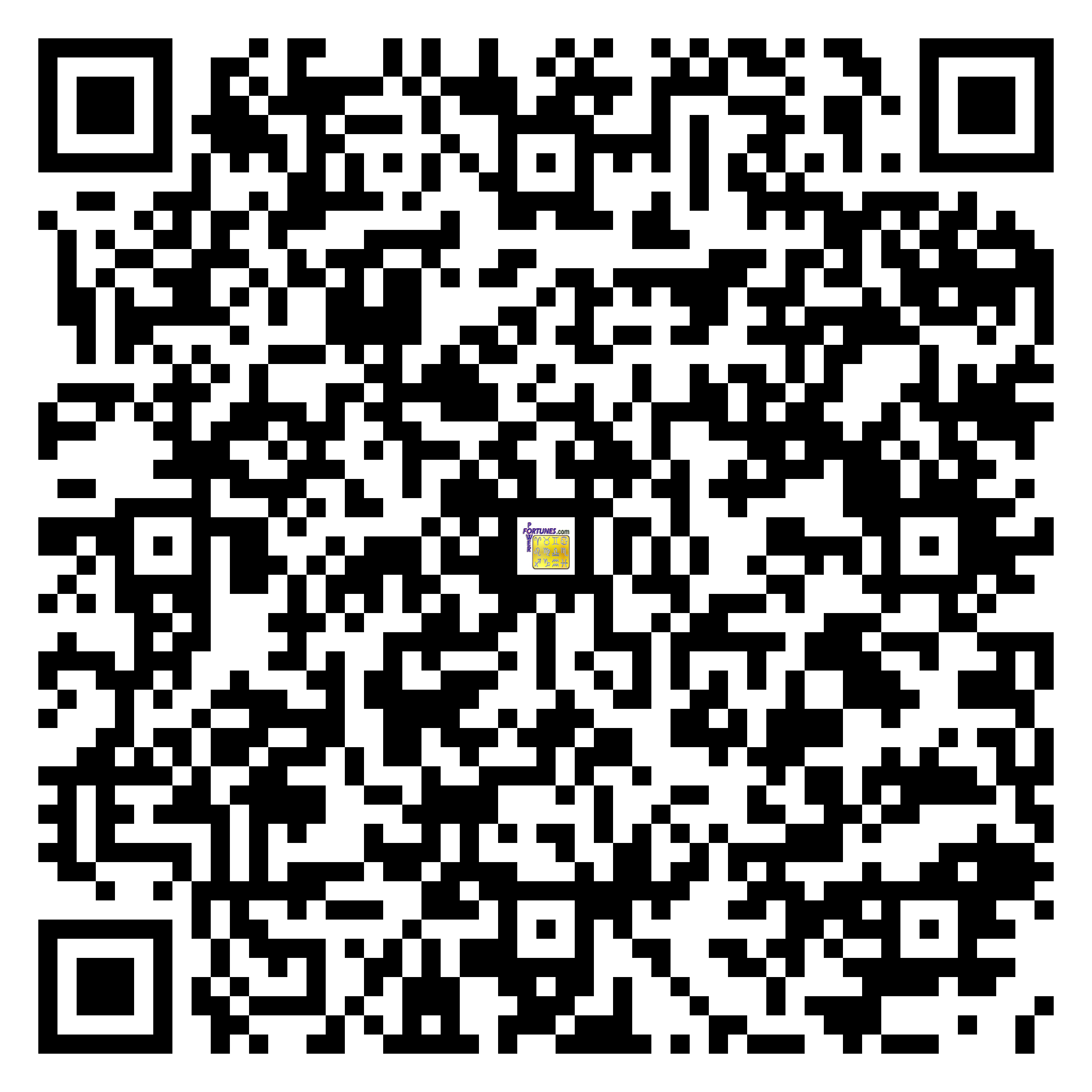 Download QR Code for PowerFortunes.com SKU# Pwr.lk90X167-s
