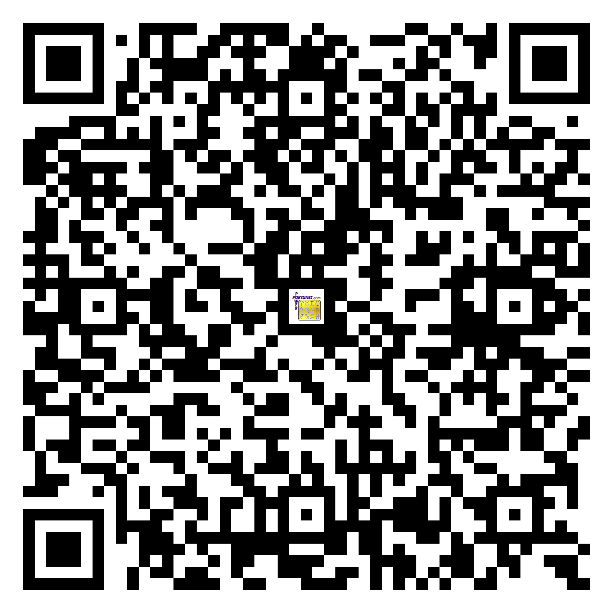 Download QR Code for PowerFortunes.com SKU# Pwr.mn125X72-s