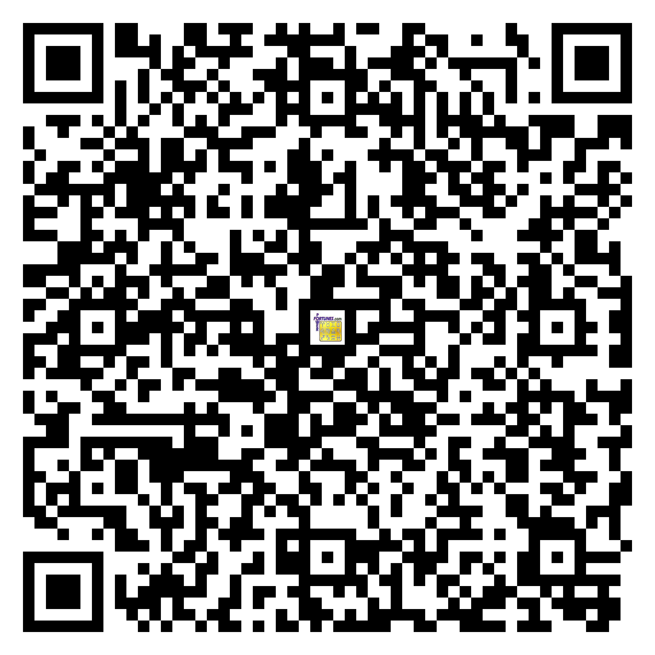 Download QR Code for PowerFortunes.com SKU# Pwr.mn126X131-s