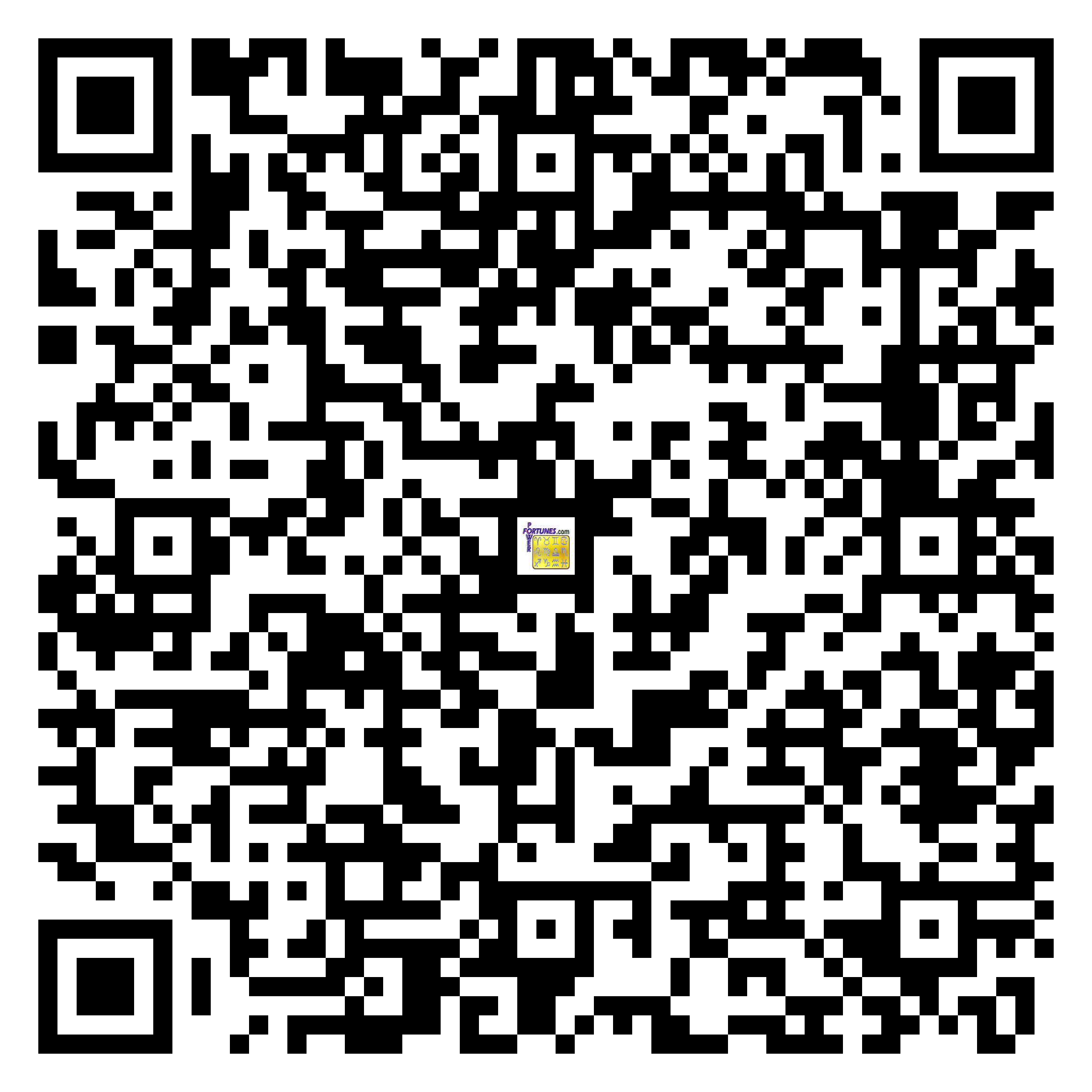 Download QR Code for PowerFortunes.com SKU# Pwr.mn128X73-s