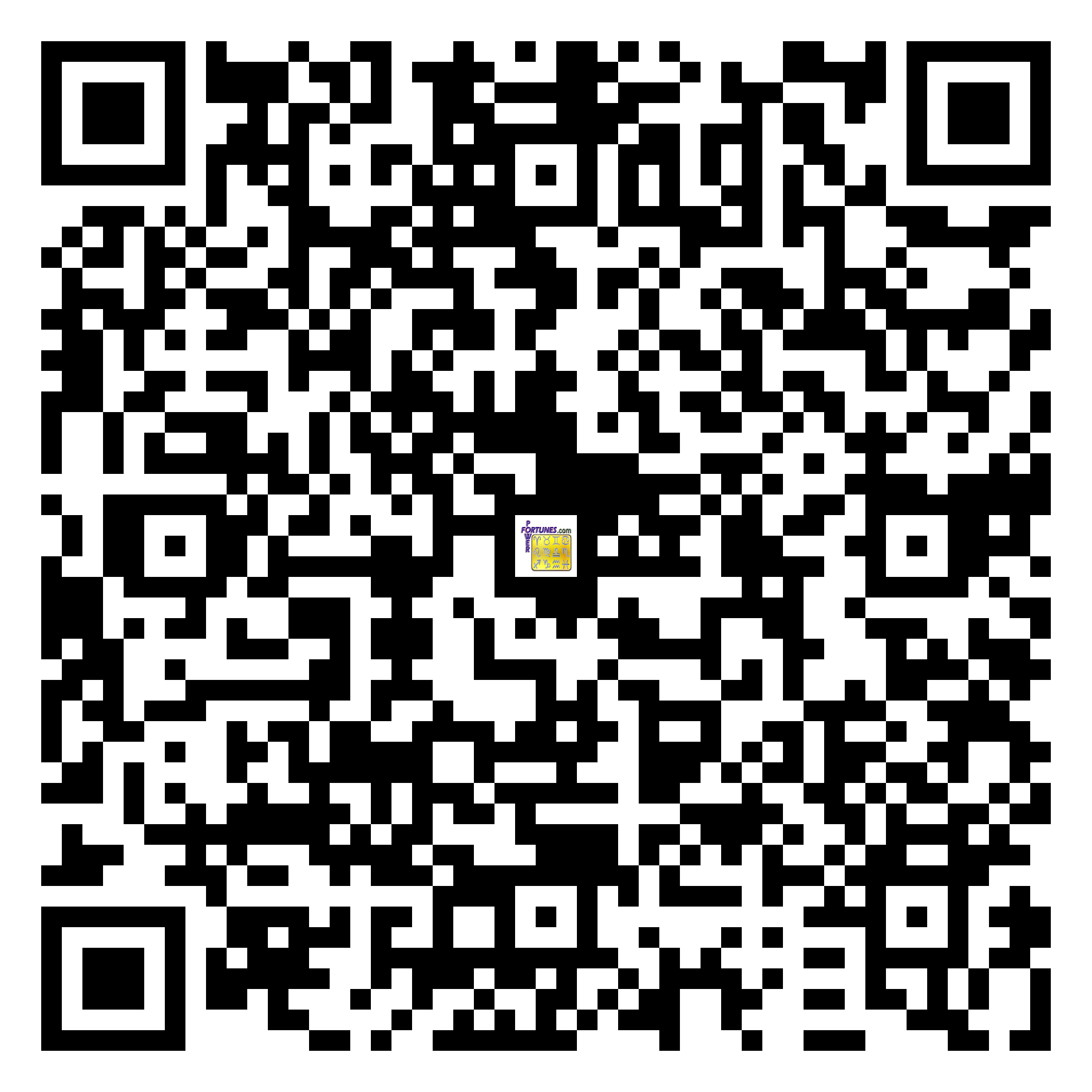 Download QR Code for PowerFortunes.com SKU# Pwr.mn130X61-s