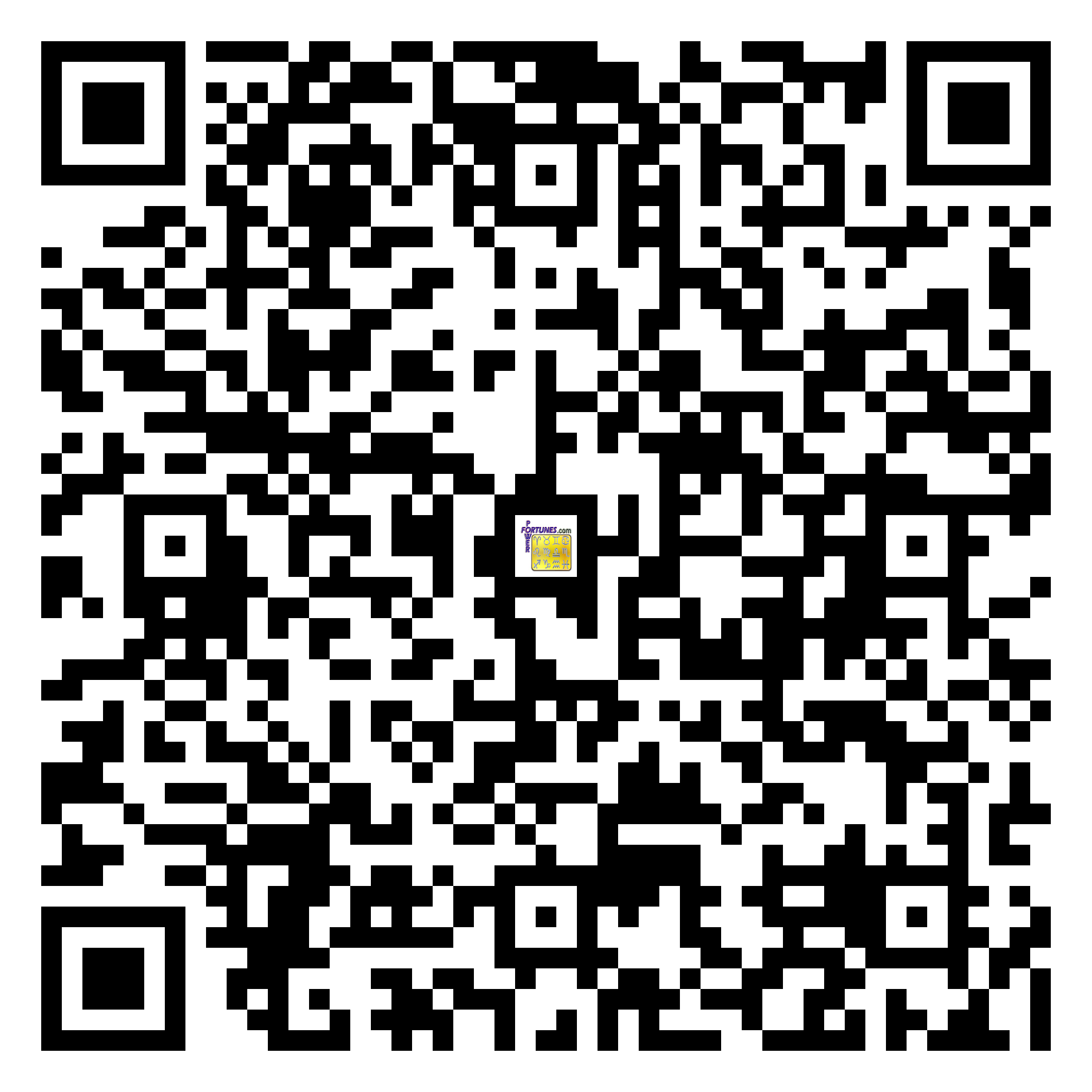 Download QR Code for PowerFortunes.com SKU# Pwr.mn131X60-s