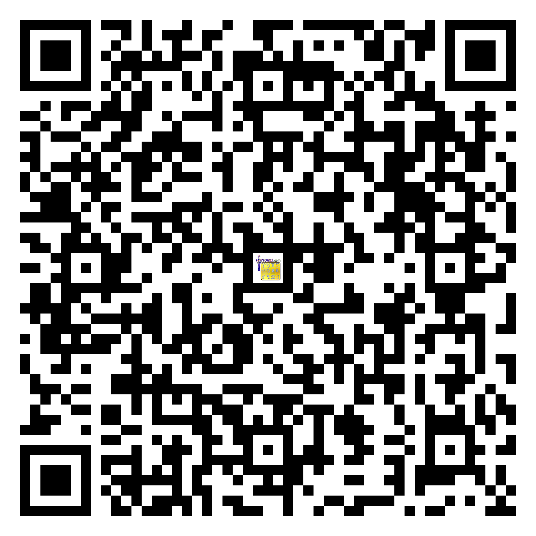 Download QR Code for PowerFortunes.com SKU# Pwr.mn132X62-s