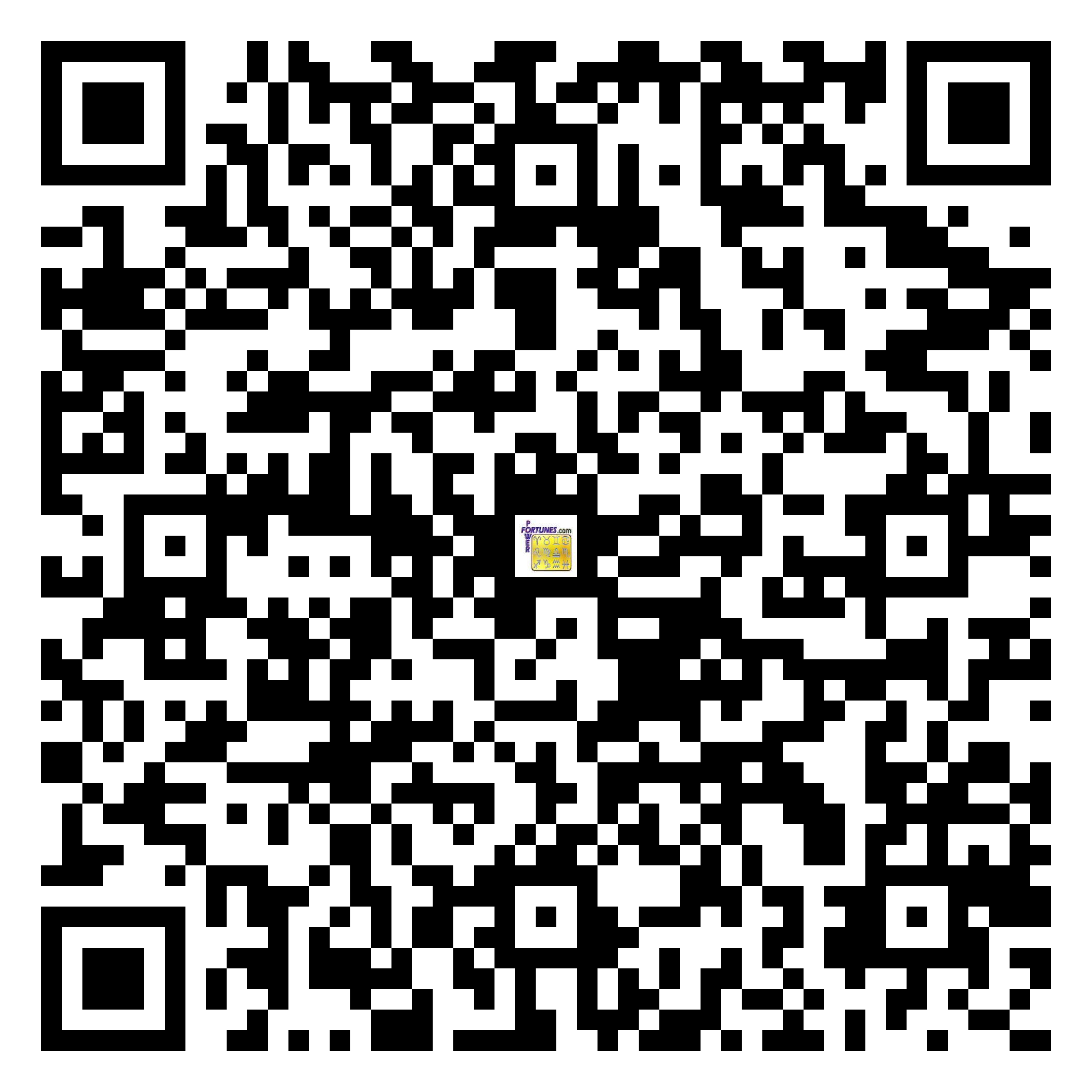 Download QR Code for PowerFortunes.com SKU# Pwr.mn133X63-s