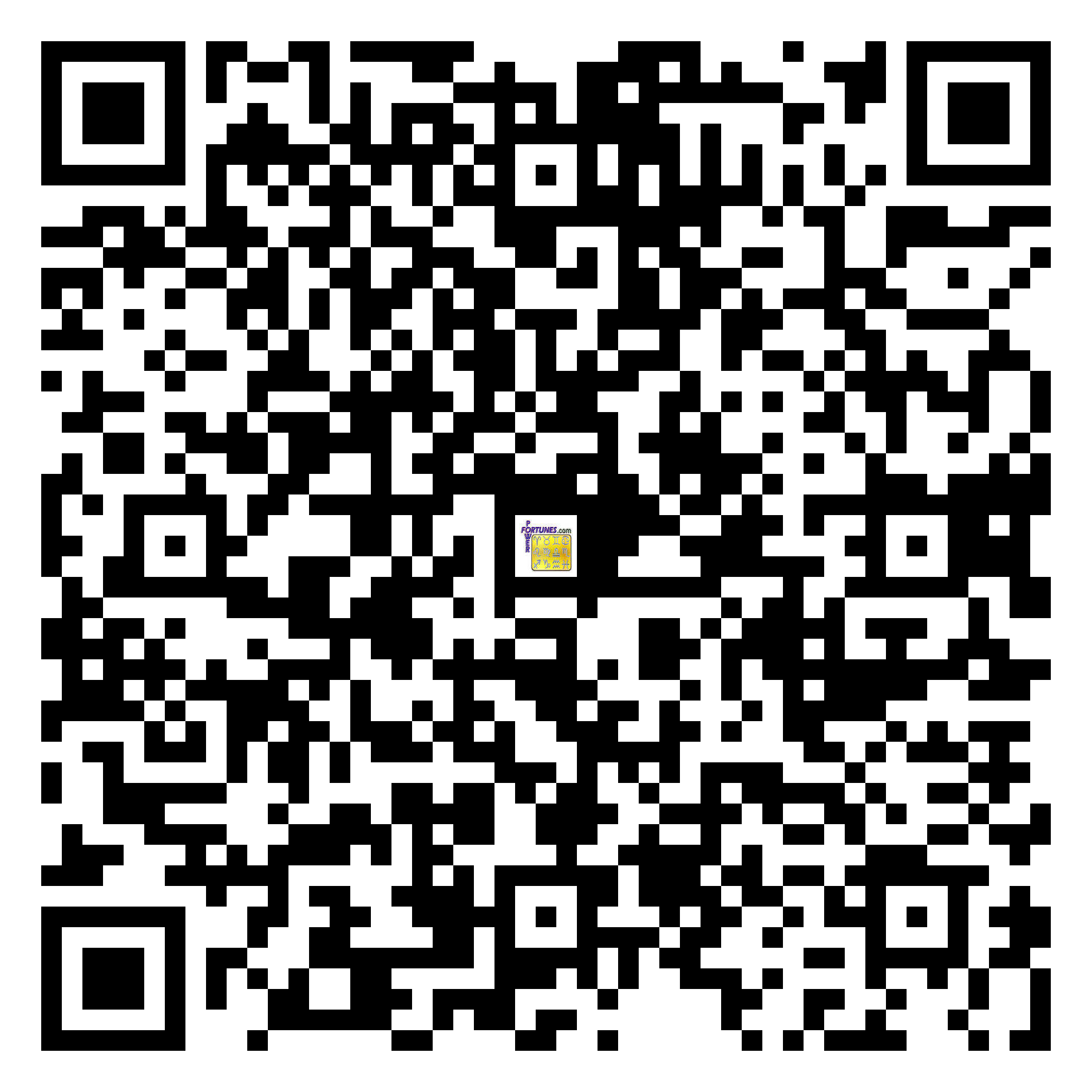 Download QR Code for PowerFortunes.com SKU# Pwr.mn135X65-s