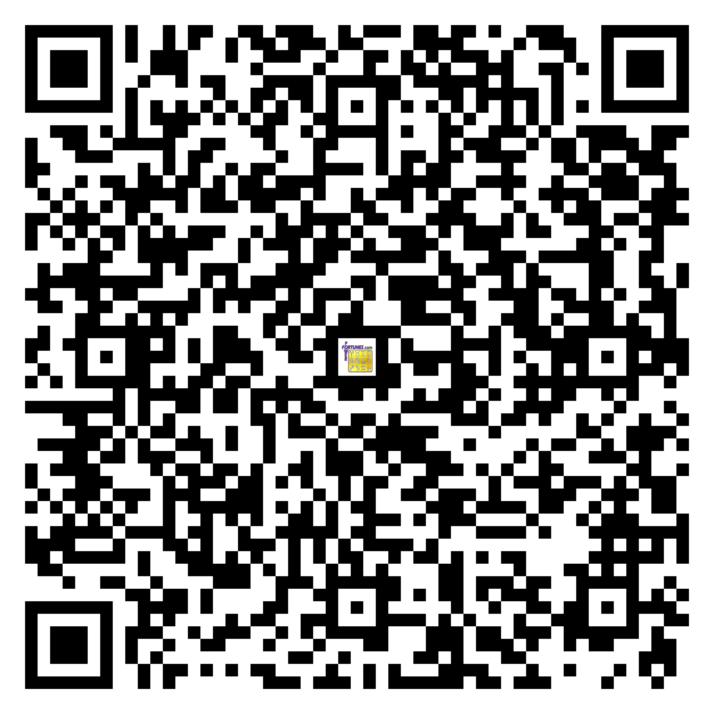 Download QR Code for PowerFortunes.com SKU# Pwr.mn139X66-s