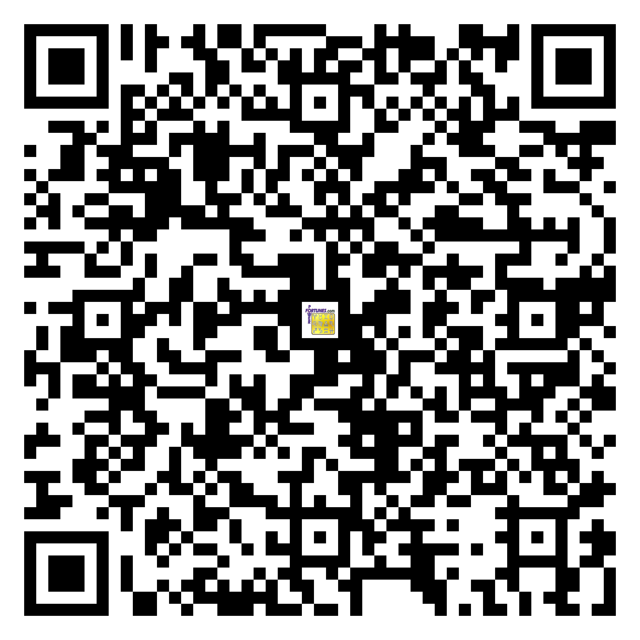 Download QR Code for PowerFortunes.com SKU# Pwr.mn140X68-s