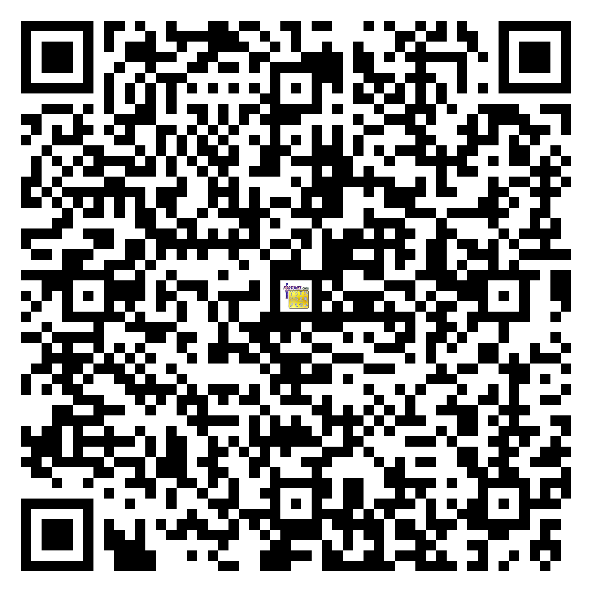 Download QR Code for PowerFortunes.com SKU# Pwr.mn142X132-s