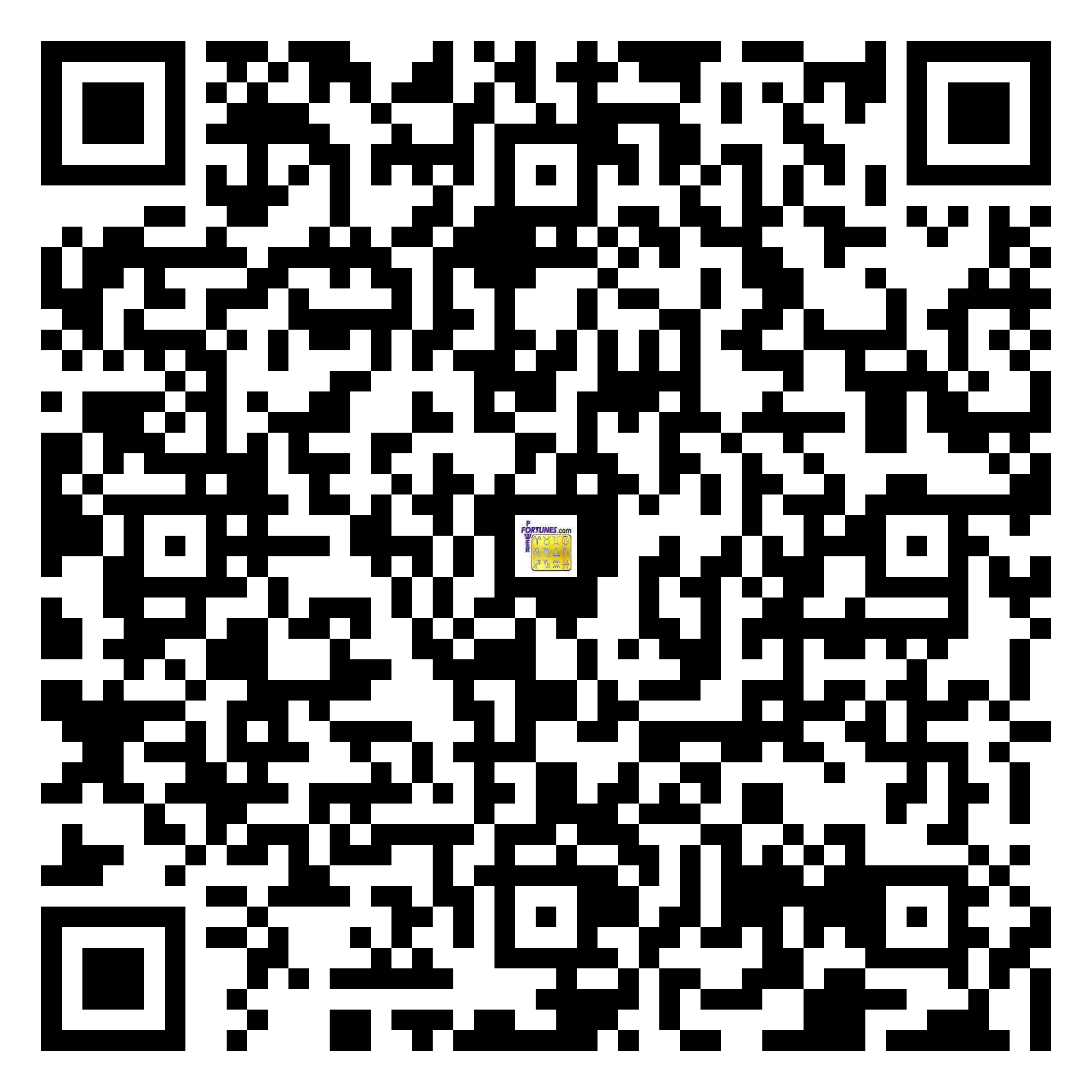 Download QR Code for PowerFortunes.com SKU# Pwr.mn144X75-s