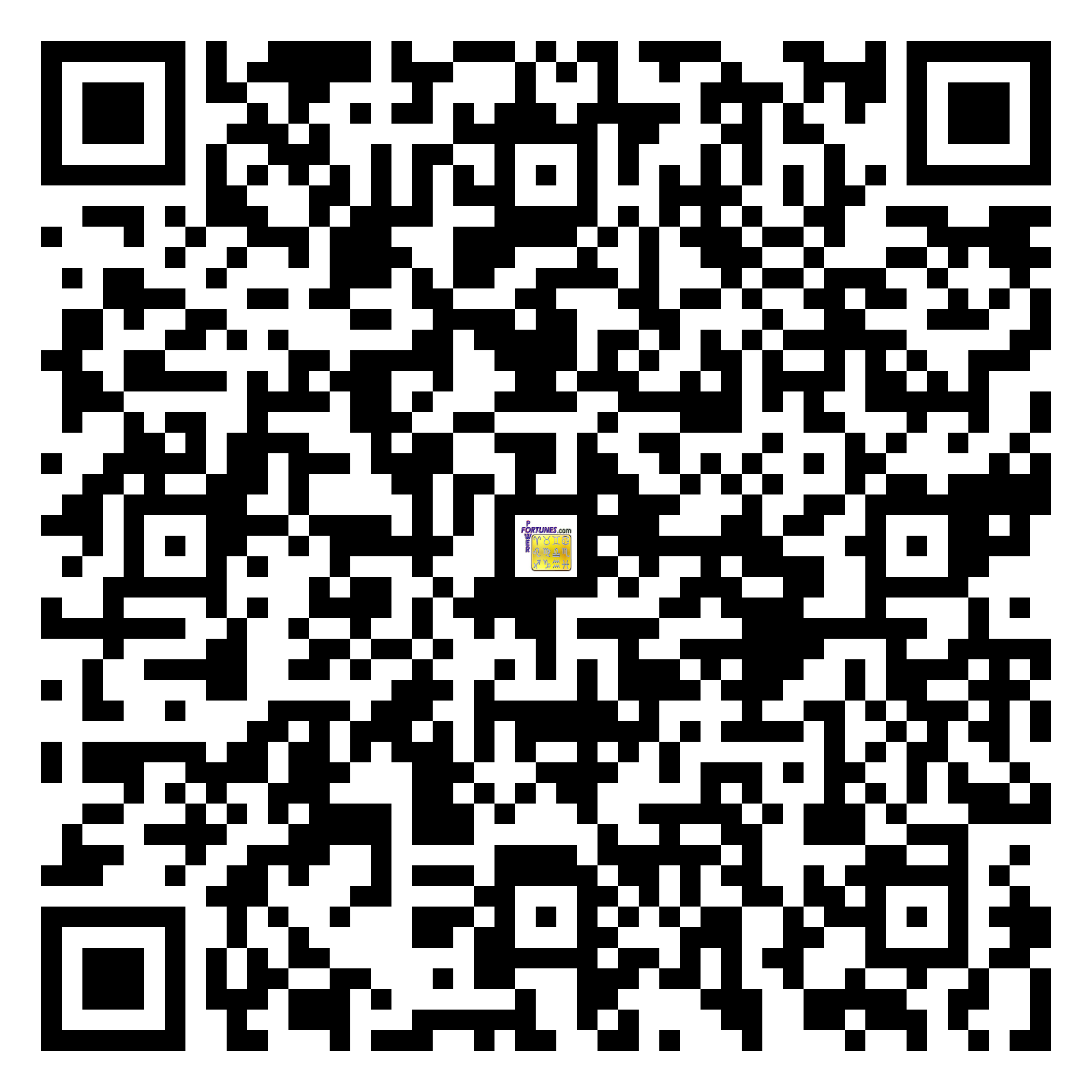 Download QR Code for PowerFortunes.com SKU# Pwr.mn145X70-s