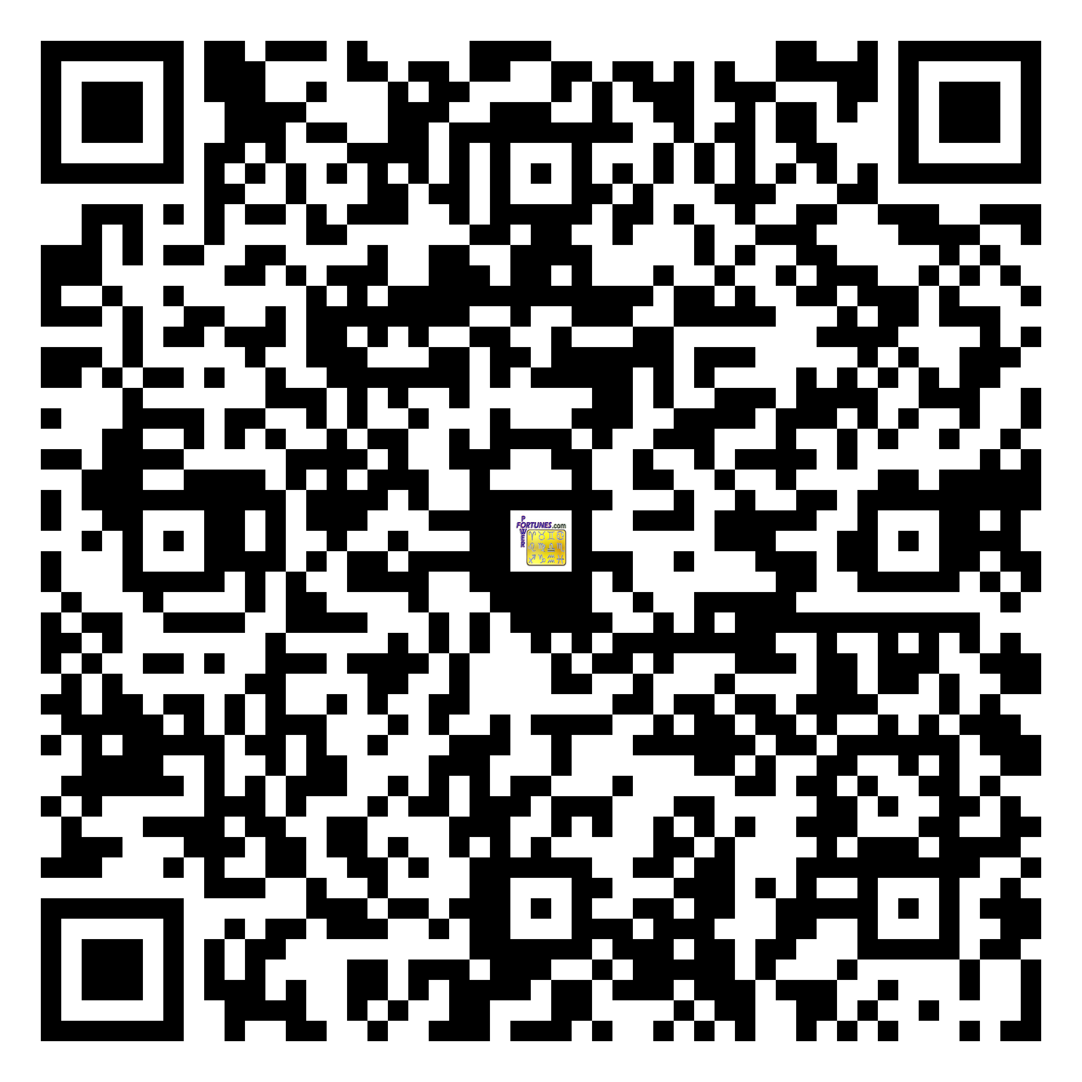 Download QR Code for PowerFortunes.com SKU# Pwr.mn147X74-s