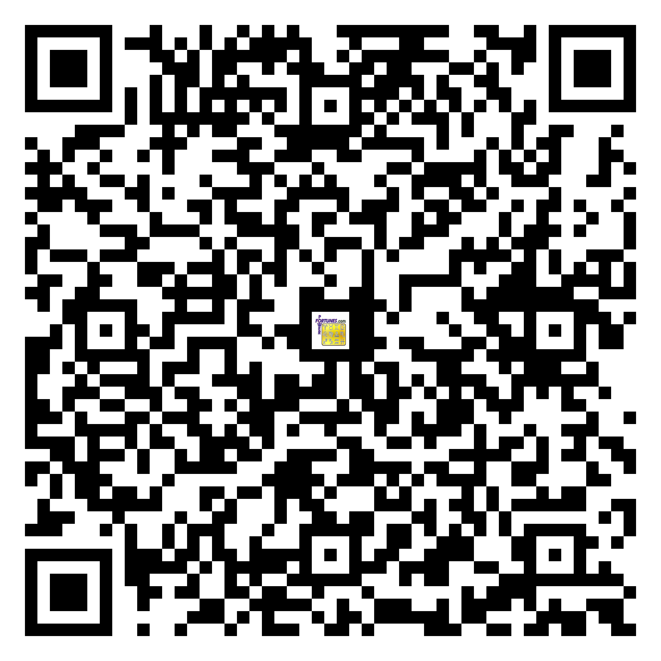 Download QR Code for PowerFortunes.com SKU# Pwr.mn150X79-s