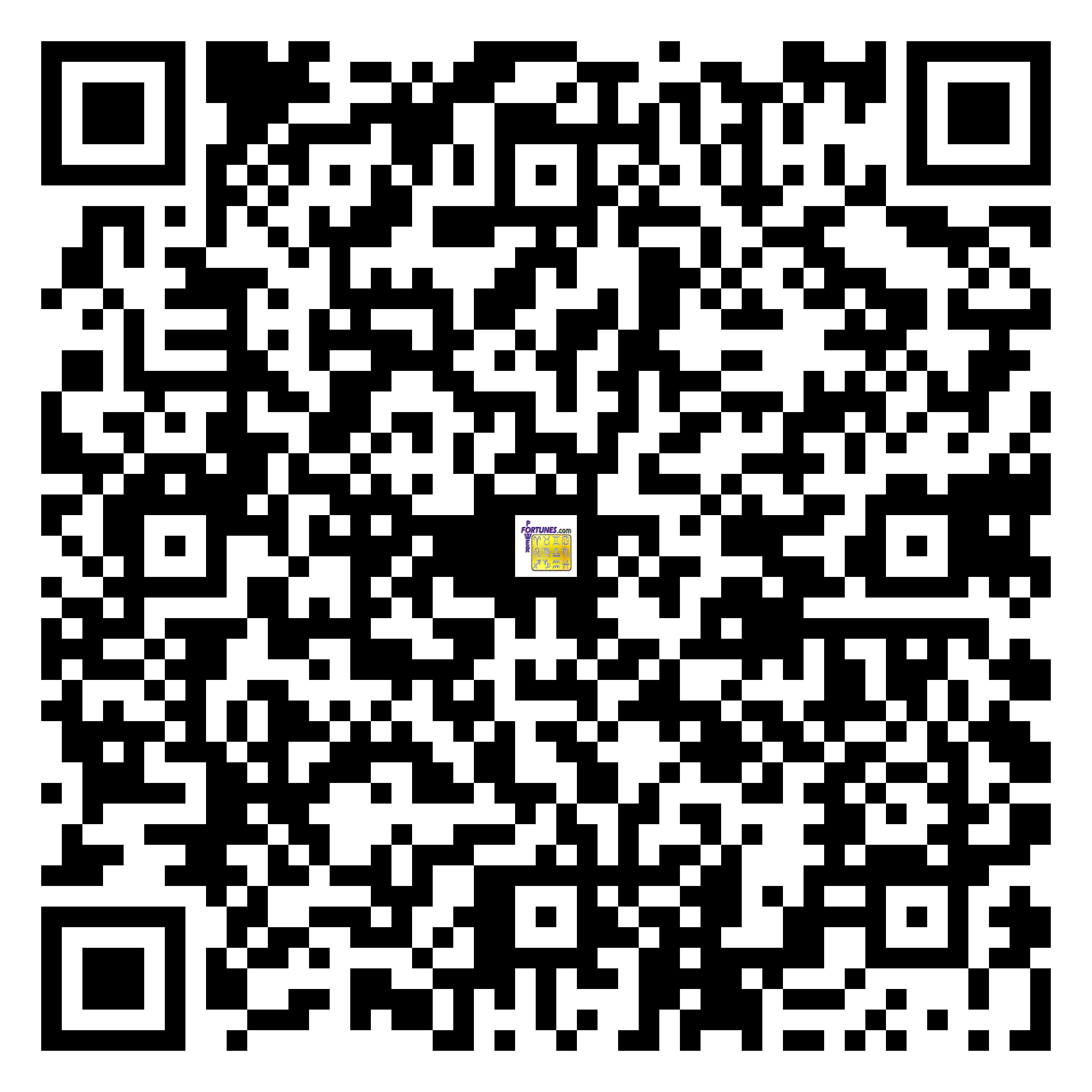 Download QR Code for PowerFortunes.com SKU# Pwr.mn151X76-s