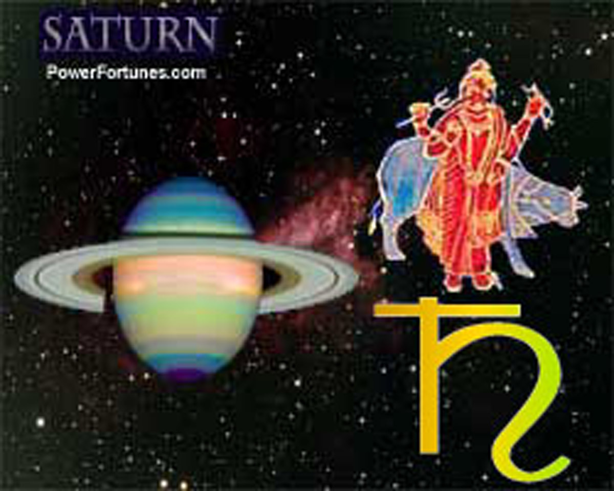 Symbols of the planet saturn.