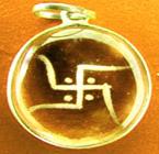 A crystal pendant charm
