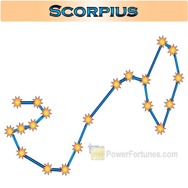 Zodiac Constellation for Scorpio