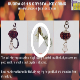Click for video about, Item 67, Rudraksh & Crystal Key Ring